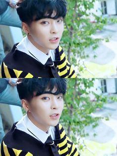Minseok / electric kiss / black hair