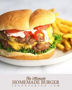 Burger Seasoning, Burger Meat, Burger Barn, Burger Recipes, Meat Recipes, Recipes Dinner, Dinner Ideas, Burger Perfect, Good Burger