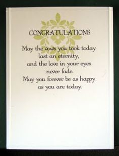 wedding sentiment....Would make a great gift in a frame