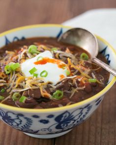 Slow-Cooked Black Bean Chili... I can't wait to make this! This website is fantastic!!