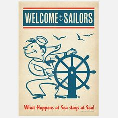 Sailors Welcome Print 42x60, 22€, now featured on Fab.