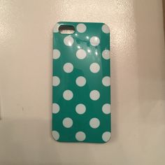 iPhone 4 case Green polka dotted case! Accessories Phone Cases
