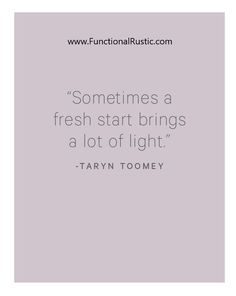 Sometimes a fresh start brings a lot of light. www.FunctionalRustic.com #quote #quoteoftheday #motivation #inspiration #quotes #diy #functionalrustic #homestead #rustic #pallet #pallets #rustic #handmade #craft #affirmation #michigan #puremichigan #repurpose #recycle #dreamers #country #redirection #barn #strongwoman #inspirational #quotations #success #goals #inspirationalquotes #quotations #strongwomenquotes #puremichigan #recovery #sober