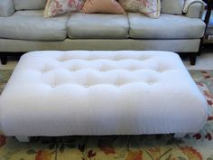 The Modest Homestead: How to Recover and Tuft an Ottoman