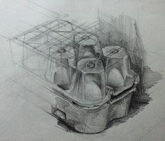 egg box drawing