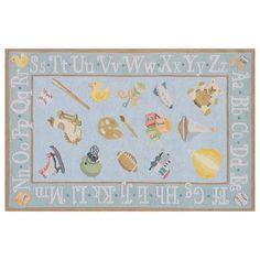 Momeni Lil Mo Classic Alphabet Rug - 8' x 10', Blue