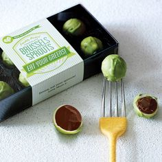 personalised chocolate brussels sprouts by quirky gift library | notonthehighstreet.com