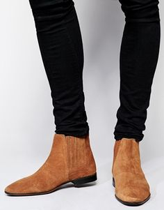 f6213ac784e ASOS Chelsea Boots in Suede at asos.com. Chaussure ModeChaussure BootsBottines  Homme CuirHomme ...