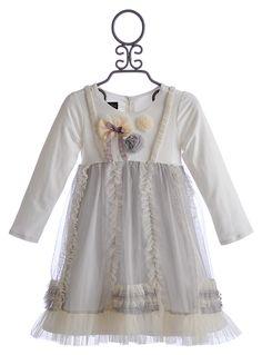 Isobella and Chloe Girls Winter Dress Tessa Ruffles $36.00 Julia NEEDS this! Her eyes would look grey!!!