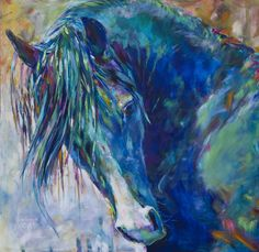I love horses!   the Beautiful CMK Arabian Stallion Aul Jesse James of Warren Park Stud by Shannon Ford equine art