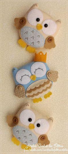 Kipróbálandó projektek Felt Owl Ornament Buying The Engagement Ring The most widespread of engagemen Sewing Toys, Sewing Crafts, Sewing Projects, Sewing Ideas, Free Sewing, Owl Crafts, Diy And Crafts, Recycled Crafts, Felt Christmas Ornaments