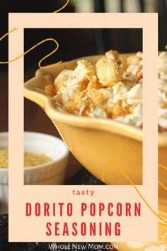 try the great taste of Dorito Popcorn! It is so easy with this Dorito Popcorn Recipe that you can make quickly at home. It makes a healthy vegan dairy free snack for the whole family to enjoy. Great for movie night! Yummy Healthy Snacks, Easy Snacks, Popcorn Recipes, Snack Recipes, Dairy Free Snacks, Homemade Seasonings, Food Allergies, Spreads, Real Food Recipes
