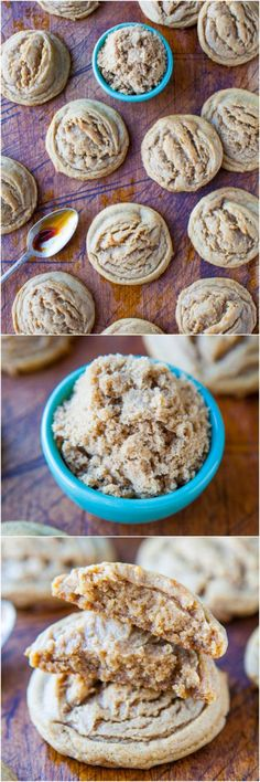 Soft Batch Dark Brown Sugar Coconut Oil Cookies #sugarcookies #healthy #dessert