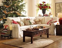 pottery barn white sectional