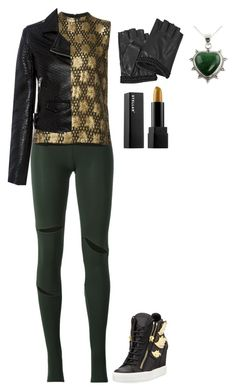 """Untitled #236"" by zahraamuhee ❤ liked on Polyvore featuring MM6 Maison Margiela, Ganni, IRO, Giuseppe Zanotti, Karl Lagerfeld and NOVICA"