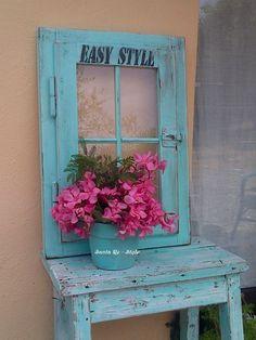 Recupero di una vecchia finestra..a pannello decorativo