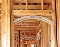 With our segmented arch kits, prefabricated and made to your measurements, you'll install archways in less time and money than building them on-site. Rustic Wall Sconces, Rustic Walls, Tv In Kitchen, Arch Doorway, Hanging Wall Art, Architecture Details, New Homes, House Design, Drywall