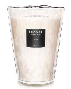 Maxi Max White Pearls Scented Oversized Candle oz) by Baobab Collection at Gilt Scented Wax, Scented Candles, Large Candles, Paraffin Wax, Glass Vessel, Candle Wax, Pearl White, Pearls, Collection