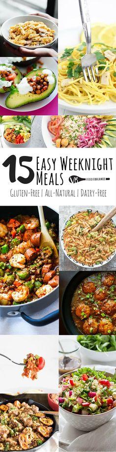 15 Easy Weeknight Meals All Gluten-Free - Veggie Balance