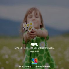 Give and God will give to you
