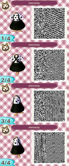 my name is claudia and you can find qr codes for animal crossing here! I also post non qr code related stuff so if you're only here for the qr codes please just blacklist my personal tag. Qr Code Animal Crossing, Animal Crossing Qr Codes Clothes, Animal Games, My Animal, Miles Edgeworth, Film Manga, Motif Acnl, Ac New Leaf, Motifs Animal