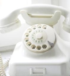 ❖Blanc❖ #White #rotary #phone Ring ring! by Elsa's on Flickr