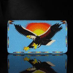 Beaded Eagle Check Book Cover  Native American Beadwork from Waci-ci Trading Company