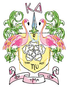 The personal KD family crest I designed for my big and my twin and myself. The Diva Family of Eta Upsilon chapter...