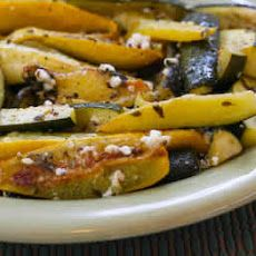 Roasted Baby Summer Squash with Feta and Thyme Recipe