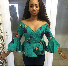 African Tops for Women, African Fashion, Ankara Top, African Top, African Clothing African Tops For Women, African Dresses For Women, African Print Dresses, African Attire, African Wear, African Prints, African Style, African Print Top, African Outfits