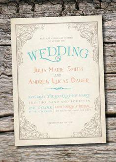Rustic Vintage Wedding Invitations 30