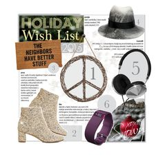 """""""2015 Polyvore Wishlist Contest Entry"""" by snowyflorida ❤ liked on Polyvore featuring Jamison, Kate Spade, Frends, Dot & Bo, Fitbit, CB2, Stone Mill, Eugenia Kim, california and katespade"""