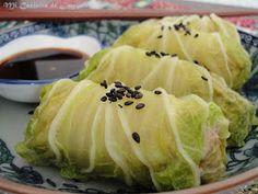 Rollitos de Col China al Vapor Col China, Steam Recipes, Cabbage, Healthy Recipes, Healthy Food, Favorite Recipes, Vegetables, Steamed Food, Ideas