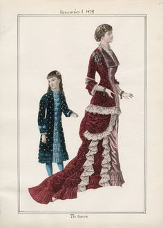 Casey Fashion Plates Detail | Los Angeles Public Library The Queen Date:  Saturday, November 1, 1879