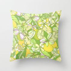 Kess InHouse Anchobee Pinya Neon Green Lime Pattern Round Beach Towel Blanket