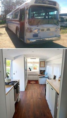 25+ Best School Bus And Van Conversions Into Tiny House - Tiredbee.com #tinyhouseliving