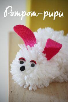 DIY Pom Pom Easter Bunny. / Söpö pom pom -pupu pääsiäiseksi.