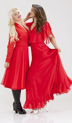Pretty Red Dress - Vintage Fashion Photoshoot Sydney Australia, Dress Vintage, Vintage Fashion, Dresses With Sleeves, Photoshoot, Long Sleeve, Pretty, Red, Sleeve Dresses