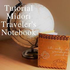 Made In Borgo: Tutorial Midori Traveler's Notebook #midori #tutorial #travelbook #mixedmedia #stonepaper #stencil Travelers Notebook, Tutorial, Stencil, How To Make, Stenciled Table