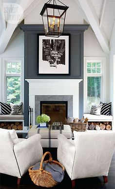 Such a glamorous sitting room.  Beautiful grey, black and white palette.