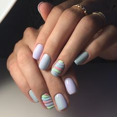 Calm nails design, Gentle gradient nails, Gentle ombre nails, Gentle summer nails, July nails, Light blue nails, Lilac-blue nails, Trendy summer nails