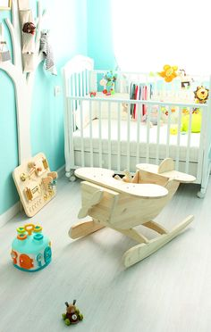 Items similar to Rocking Airplane (Hydroplane) on Etsy Wooden Projects, Wooden Crafts, Wooden Airplane, Homemade Toys, Diy Holz, Baby Bedroom, Wood Toys, Diy Crafts For Kids, Kids Furniture