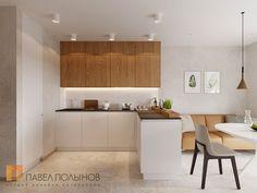 Фото дизайн кухни-гостиной из проекта «Дизайн-проект квартиры 72 кв.м., ЖК «Дом на Выборгской», современный стиль»