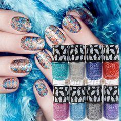 USD $3.99 1pc Colorful Feather Glitter Nail Polish Varnish Feathers Effect - BornPrettyStore.com