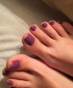 Nice Toes, Pretty Toes, Pretty Nails, Purple Toes, Painted Toes, Foot Pics, Beautiful Toes, Feet Nails, Sexy Toes