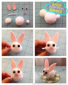Easy Pom-pom Bunnies