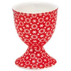GreenGate Stoneware Egg Cup Lina Red- this would make the cutest pin cushion