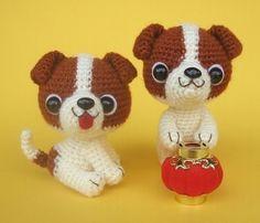 Etsy の Jack Russell Terrier Puppy  PDF Crochet Pattern by jaravee