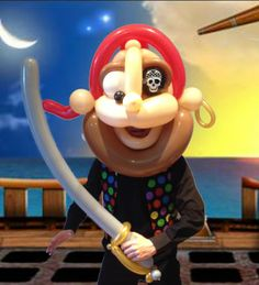 Pirate Balloon Mask and Balloon Sword