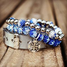 Love this trio...maybe alter the colors a bit but in love with the buckle bracelet  Tailgate Royal/White – Rustic Cuff